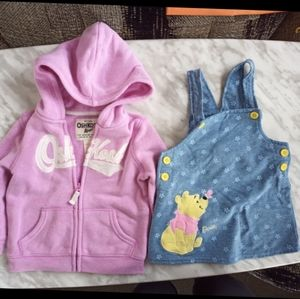 Bundle of two 18 month baby girls clothes